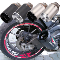 Universal 51MM Motorcycle AR Exhaust Pipe With Muffler Moto Bike Pot Escape For Yamaha Honda KTM Kawasaki with DB killer