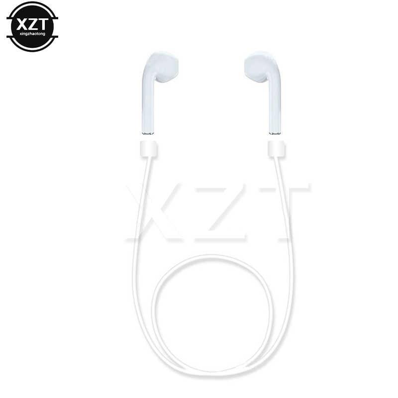 Wysokiej jakości anty stracił silikonowy pasek pętli kabel sznurkiem dla Apple Airpods bezprzewodowe słuchawki słuchawki douszne akcesoria