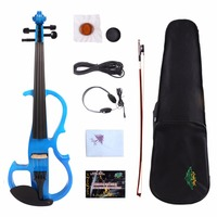 New 3/4 Electric Violin For Child Violin Silent Practice Ebony Fittings Case Bow #YZ10