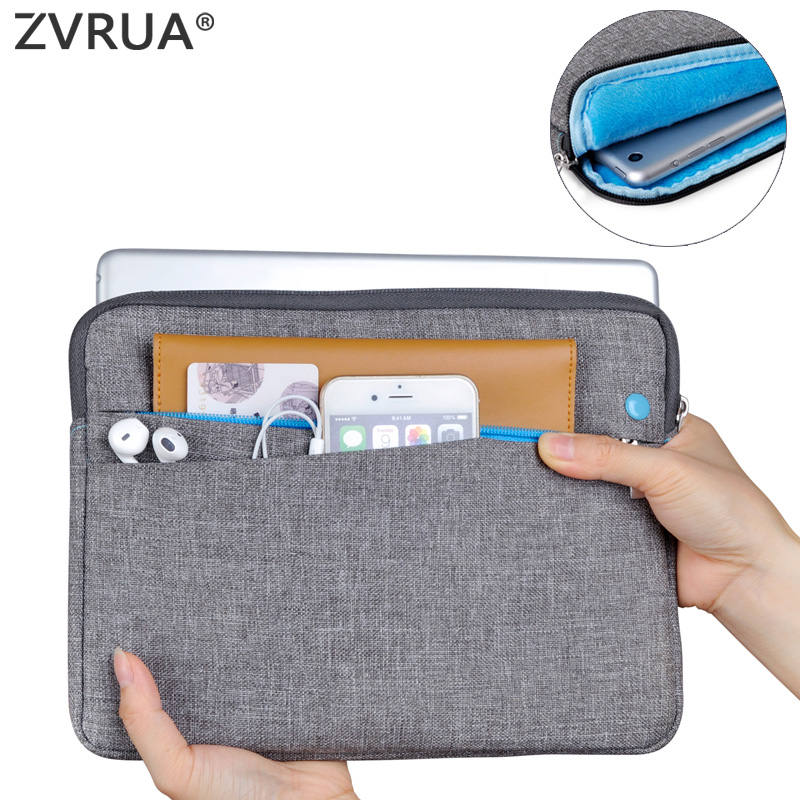 ZVRUA New Sleeve For iPad Air Pro 9.7 Release Shockproof Tablet Liner Pouch Bag for Air Pro 9.7 inch Cotton Tablet Cover for new ipad pro 10 5 2017 release shockproof tablet liner sleeve pouch bag for ipad 10 5 inch cotton tablet cover case pen gift
