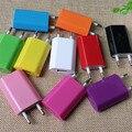 Alta Calidad 5 V 1A Colorido UE EE.UU. Enchufe de Viaje de Alimentación de CA de Pared Cargador USB adaptador para iphone 5 5s 5c 4s se 6 6 s 7 plus samsung htc