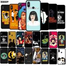 Pulp fiction TPU Phone Silicone Cover for Xiaomi Redmi 7A K20 Note 8 Mi 9T A3 Pro Soft Case
