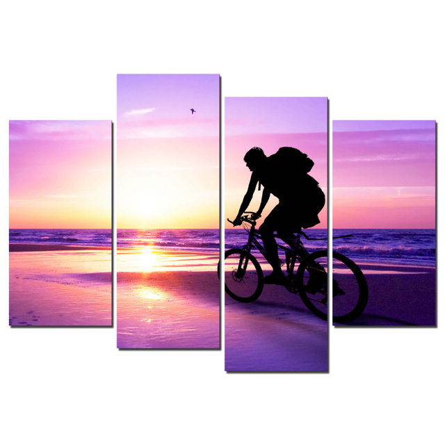 Drop Shipping 4 Panel Travel Painting Printed Painting Canvas Art ...