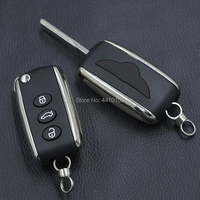 3 Button Flip Folding Remote Key Shell For Bentley Mulsanne Hurtling GT Auto Car Key Case Cover Replacement With Logo