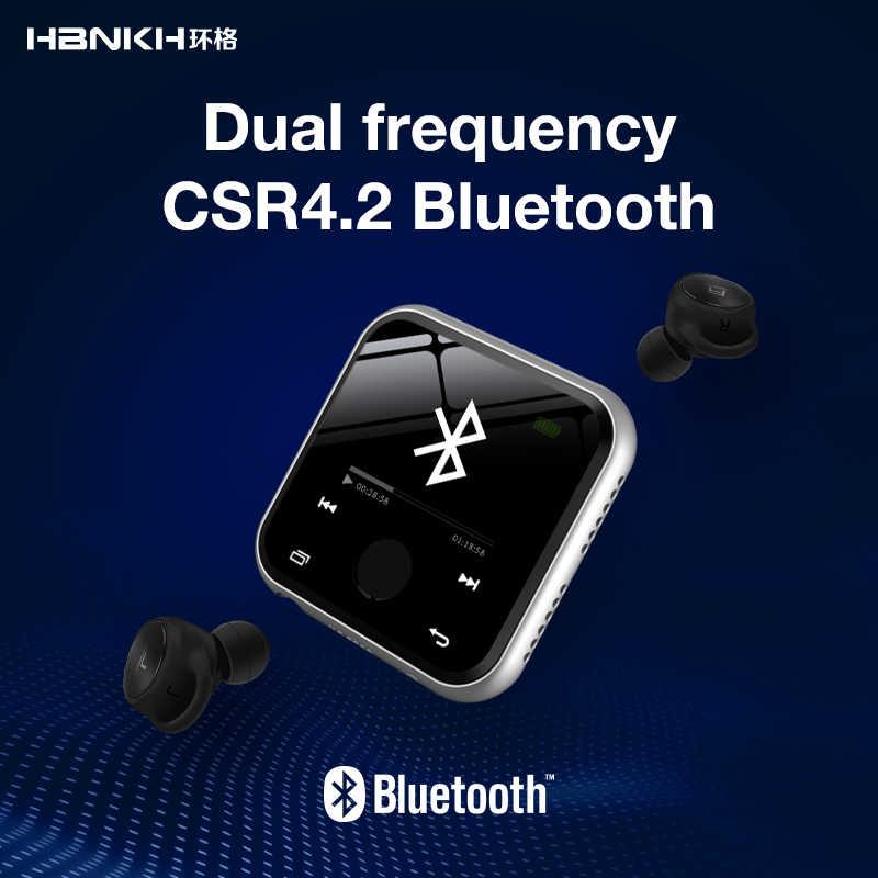HBNKH R320 1.8 Cal ekran dotykowy odtwarzacz Mp3 Bluetooth Radio FM nagrywanie odtwarzacz muzyczny Mp3 Hifi 8G E-Book wbudowany głośnik E-Book