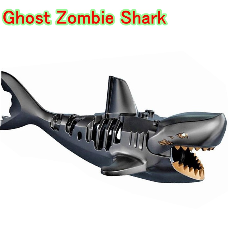 Ghost Zombie Shark Action Bricks Single Sale Pirates of the Caribbean Building Bricks Toys Legoingly For Children PG1008 laying the ghost