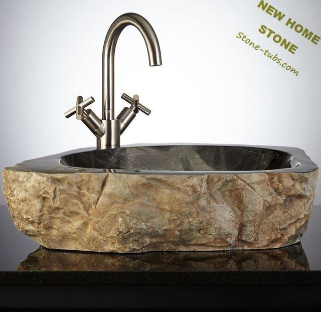 New Home Antique Stone Sink Vintage Style Design Luxury Bathroom Vanity Sink  Countertop Wash Bain With