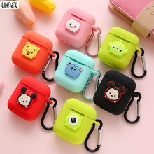 Mickey Minnie Mike Sully Mike Daisy Bear SofSilicon Case for Airpods Bluetooth Wireless Earphone Case Charging Box Cartoon Cover(China)