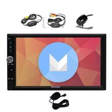 Android 6.0 стерео 2 Дин, dvd-плеер в тире GPS навигации AM, FM Радио Bluetooth головы блок 1080 P/Wi-Fi + обратный Камера