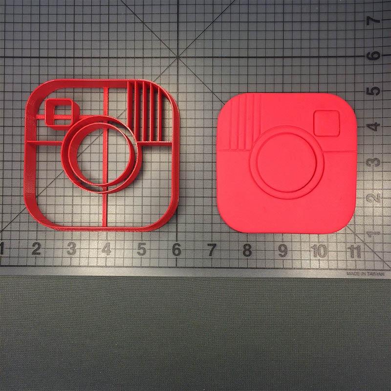 3 tailles-Instagram-orgue Rein Cookie Cutter-fondant