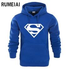 RUMEIAI New Superman Hoodie Batman Hooded Men Casual Cotton Fall / Winter Warm Sweatshirts Men's Casual Tracksuit Costume