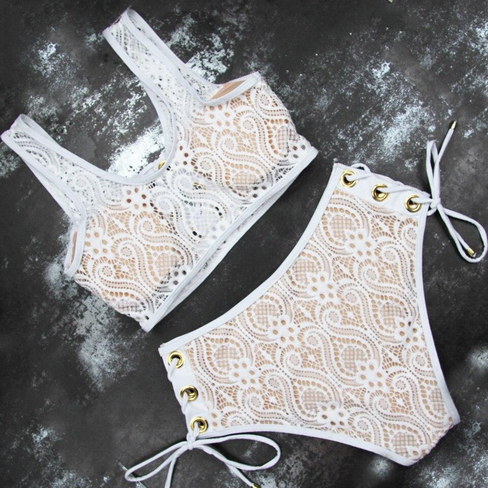 HTB10gWHO4TpK1RjSZFKq6y2wXXaw LI-FI 2019 Sexy Bikini Women Swimsuit Push Up High Waist Lace Swimwear Halter Bikini Set Beach Bathing Suit Swim Wear Maillot