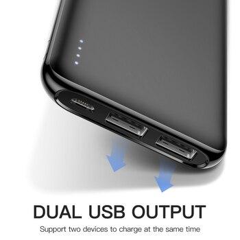 KUULAA Power Bank 10000 mAh PowerBank Portable Charging Poverbank 10000mAh USB External Battery Charger For Xiaomi Mi 9 8 iPhone 1