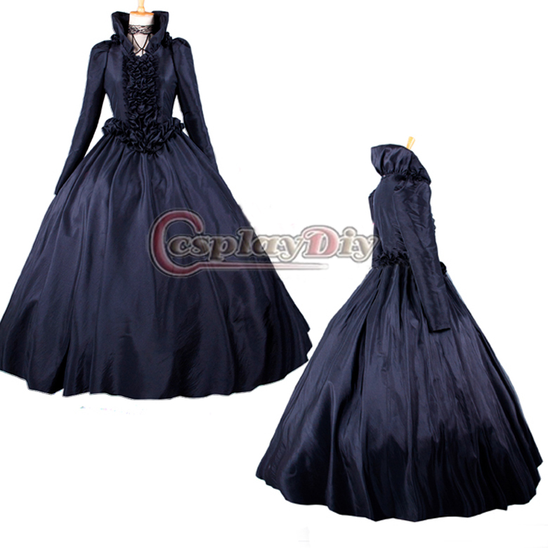 Vintage Purple Gothic Ball Gown Wedding Dresses With Cloak: Online Shopping Victorian Cloak