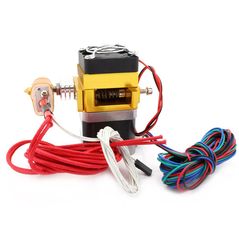 1.75/0.4mm Nozzle Print Head MK9 Extruder Hotend with NTC 100k Thermistor and 700mm PTFE Tube for Reprap Prusa i3 3D Printer long distance 3d printer j head hotend jhead for 1 75mm filament e3d bowden extruder 0 4mm nozzle bi092