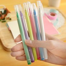 5 pcs South Korea stationery DS – 239 large capacity frosted gel pen candy color pen black ink