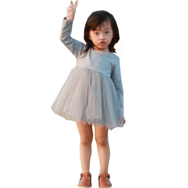 Baby Girls Princess Tutu Dress O Neck Patchwork A line Mini Dress White Pink Black Gray  9-48 MonthsBaby Girls Princess Tutu Dress O Neck Patchwork A line Mini Dress White Pink Black Gray  9-48 Months