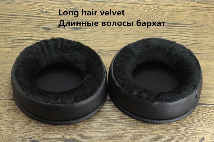 1 Pair 100MM 80-110MM Replacement Long Velvet Foam Ear Pads Cushions for Sony for AKG for beyerdynamic Headphones 1 (2)