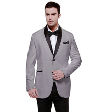 Men's Prom Party Suit Blazer Slim Fit suits mens suits for men white suits for men Two buttons Tuxedo & Trousers &bow tie
