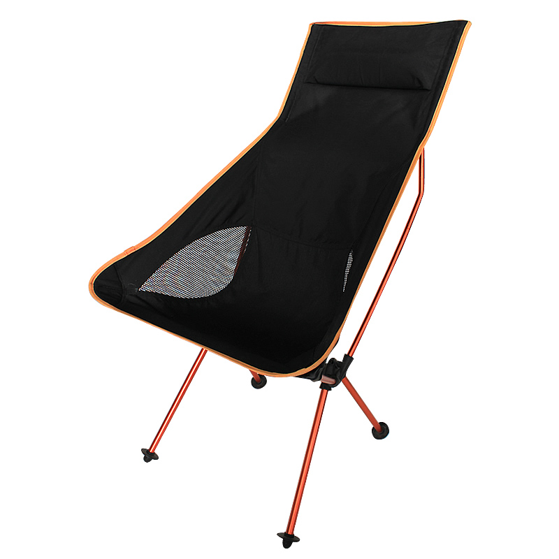 RED Color Portable Camping Chair Fishing Folding Chair Light Weight Packed Seat Stool For Picnic Barbecue Big Load Bearing