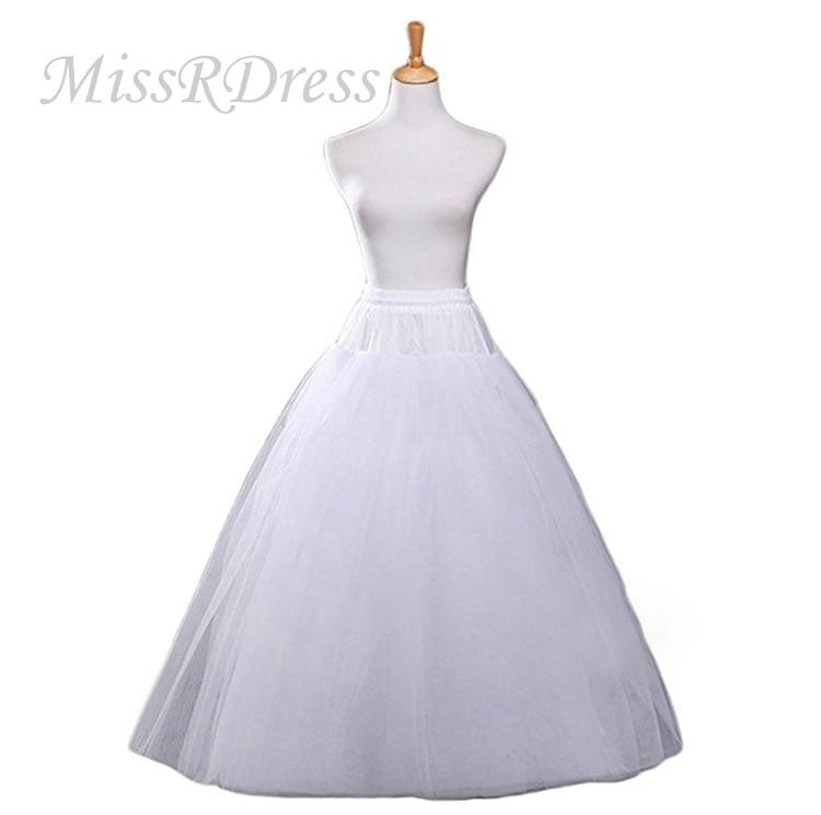 MissRDress No Hoops Bridal Underskirt White Wedding Petticoat Elastic Waist Crinoline Slips For Wedding Accessories JKC18