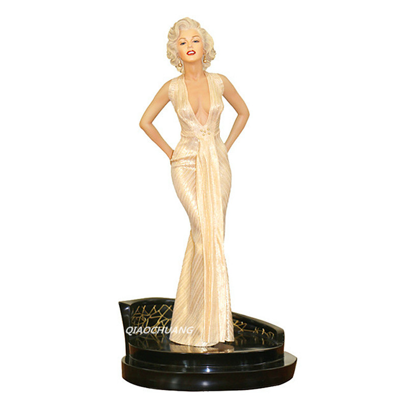 EMS Statue Gentlemen Prefer Blondes Marilyn Monroe 1/4 Norma Jeane Baker Bust Anime Sexy Figures Collectible Model Toy 43cm W123