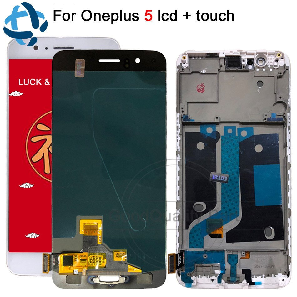 100% Tested Oneplus 5 LCD Display Screen Touch Panel Complete A5000 Assembly 5.5Oneplus 5 Five LCD Digitizer Display + Frame100% Tested Oneplus 5 LCD Display Screen Touch Panel Complete A5000 Assembly 5.5Oneplus 5 Five LCD Digitizer Display + Frame
