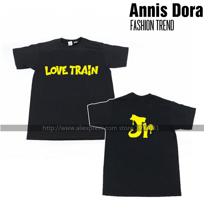 US $8 0 |KPOP GOT7 1st fan meeting in japan love train BAMBAM MARK JB JR  JACKSON YOUNGJAE YUGYEOM same style short sleeved T shirt-in T-Shirts from