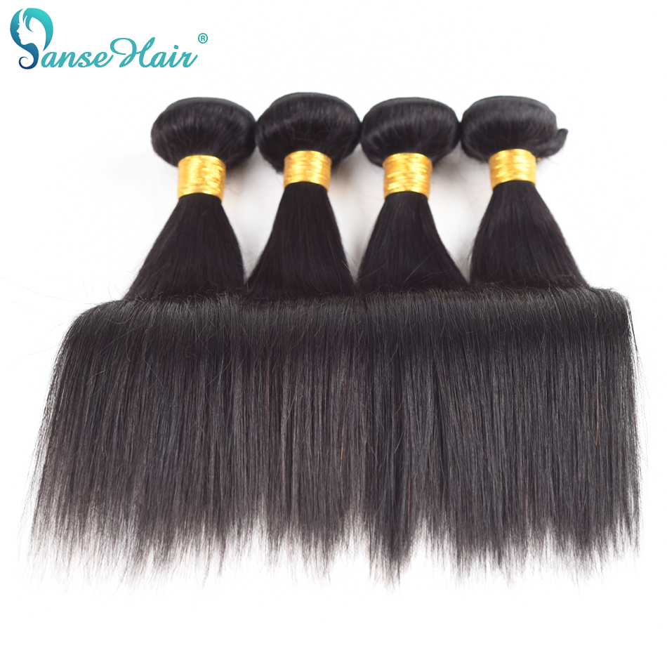 Panse Hair Brazilian Straight Hair Weaving Non Remy Human Hair 4 Bundles Per Lot Customized 8-30 Inches Factory Direct Sale