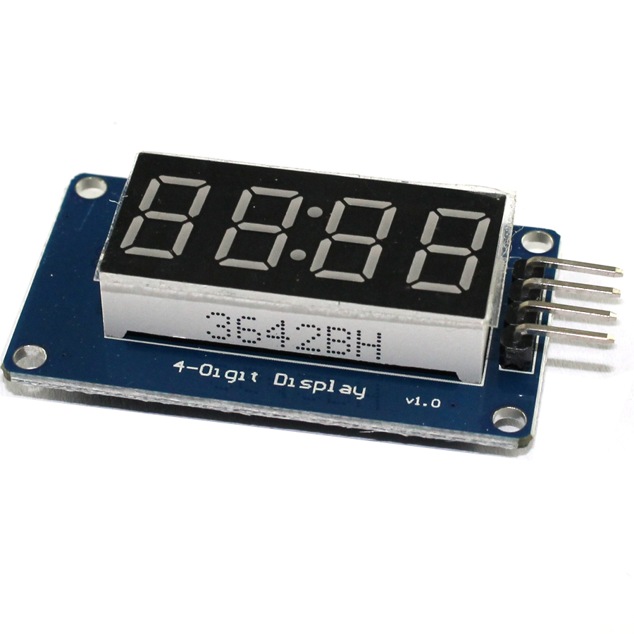 5 шт. 4 биты TM1637 красный цифровой трубки светодиодный модуль и часы