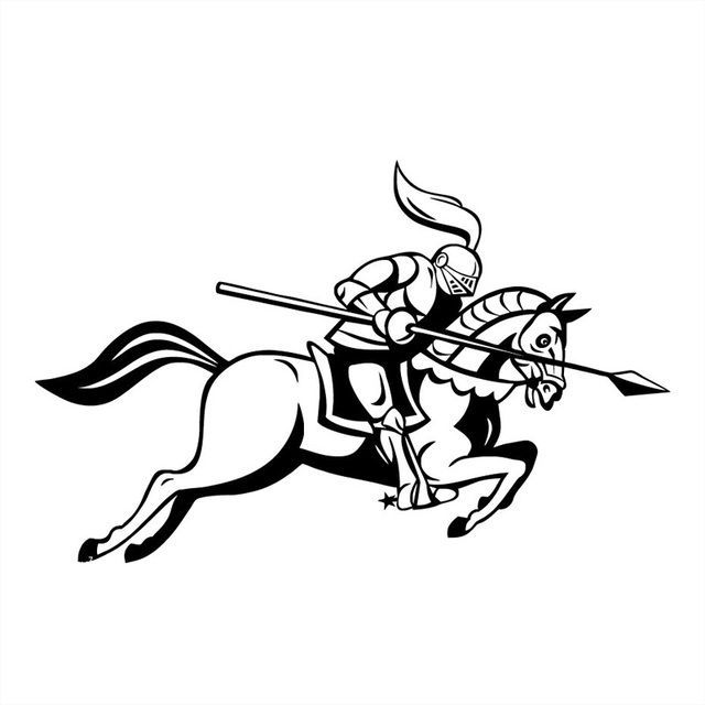 15 39 7cm Medieval Knight Jousting Lance Horse Body Decorative