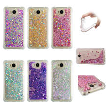 Y5(2017) Cases For Huawei Y5 2017 case Back cover Bling Glitter Dynamic Quicksand Liquid Case for Y6 coque