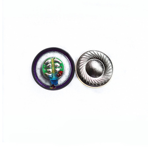 Image 1 - 15.4ミリメートル130オームのヘッドフォンhifiスピーカー純粋なベリリウムスピーカー用MX500 diyシェルケースデシベル/w