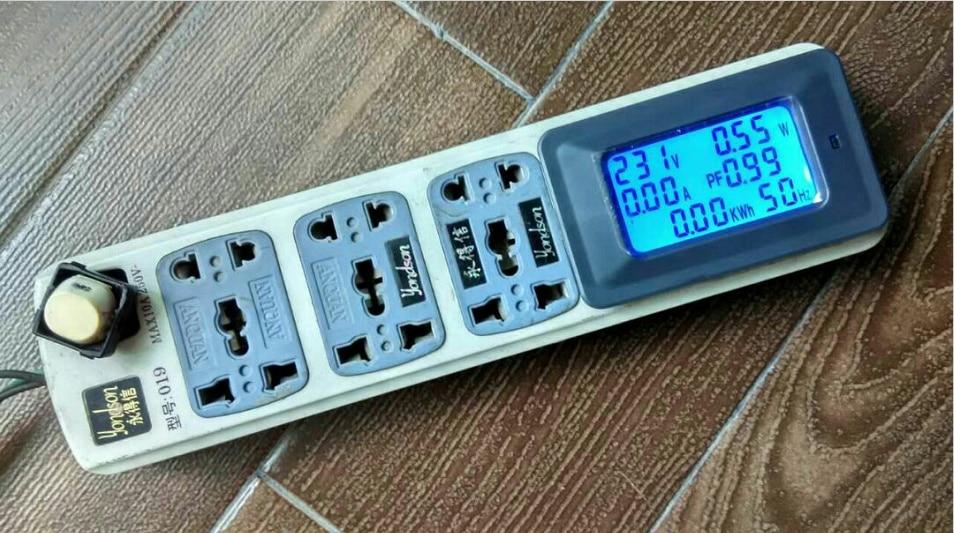 AC220V 20A Cyfrowy miernik napięcia Licznik energii LCD 5KW - Przyrządy pomiarowe - Zdjęcie 5