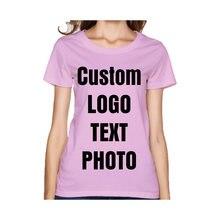 Индивидуальные футболки для женщин с принтом вашего собственного