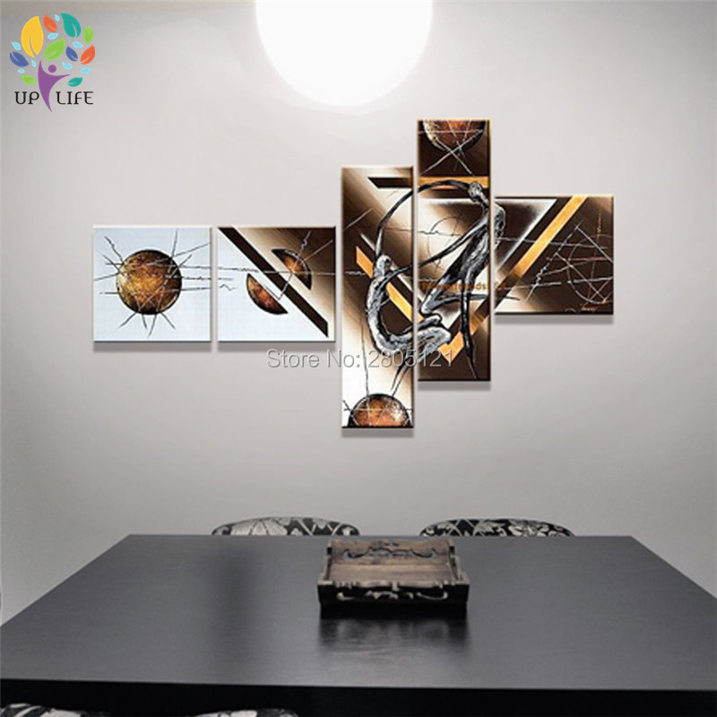 Hand made irregular modern oil painting art wall paintings - Oil painting ideas for living room ...