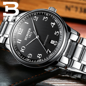 Image 5 - New BINGER Brand Luxury Automatic Mechanical Men Watch Sapphire Watches Male Military Relogio Waterproof Mens Watches BG 0379 2