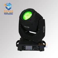Rasha 130W 2R Moving Head Beam Light With 14 Gobos 3 Layer Lens Touch Screen LCD Display Stage Beam Light 110 240V 7R/5R