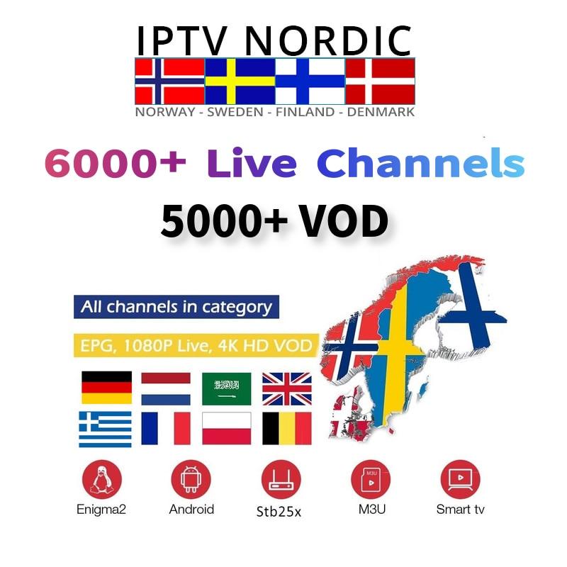 IPTV Nordic 5000 live Sweden channels subscription iptv Swedish Polish  Switzerland Danish m3u For Mag 256 Htv 5 Android Tv box