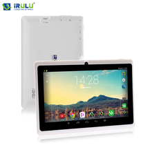 "Irulu expro x1 7 ""tablet android 4.4 kitkat quad core 1024*600 hd 16 gb rom cámaras duales de la tableta de apoyo google play"