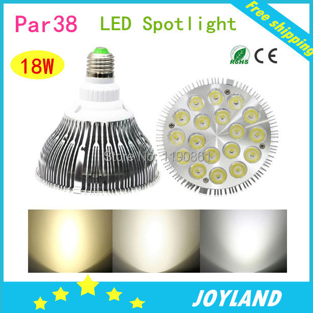 Ultra Bright E27 Dimmable PAR38 LED Light Bulb Lamp 86-265V 18x2w 36w led par light for track