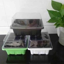 seed seedling trays plastic nursery tray with lid bandeja soporte invernadero greenhouse for garden agriculture pots