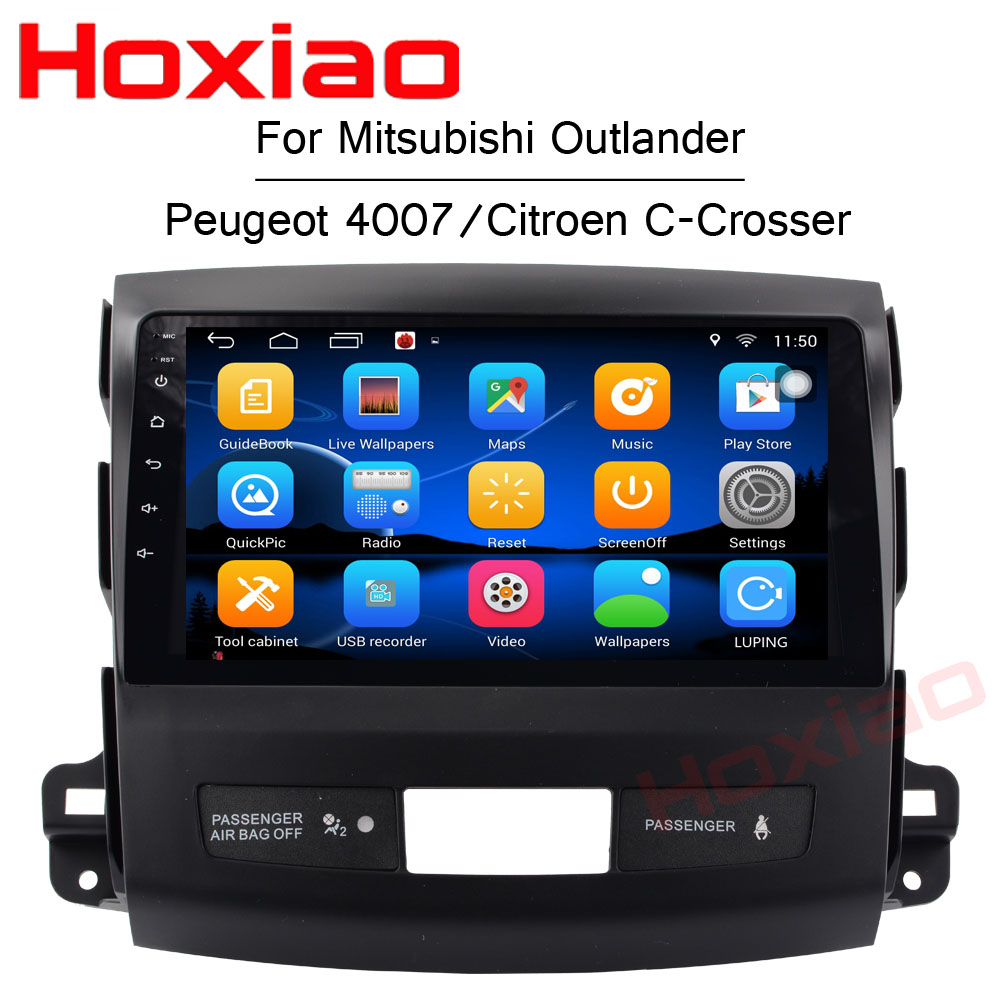 Android Car DVD for Mitsubishi Outlander 2006 2012 Peugeot 4007 Citroen C Crosser Radio Navigation 2