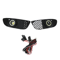 2Pcs Car Front Grill Angel Eyes Fog Lights Driving Lamps For Mitsubish Lancer 2008 2013 With