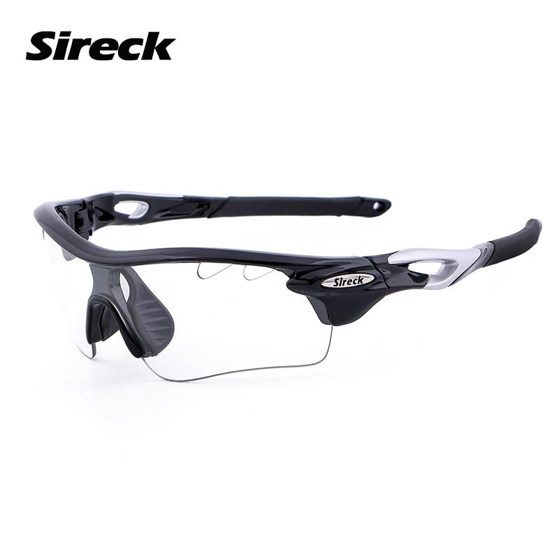 Sireck Photochromic Fishing Glasses UV400 Polarized Sports Sunglasses Black Red Cycling Glasses 2 Lens Unisex Fishing Eyewear