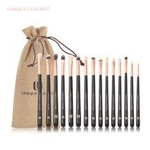УНИКАЛЬНЫЕ ЦВЕТА 15PCS Профессиональные макияж для глаз Кисти Luxe Set Eyeshadow Foundation Highlighter Eyeliner Brush Natural Bella Fiber