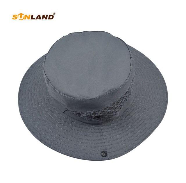Sunland Men S Wide Brim Packable Sun Hat Summer Bucket Safari Cap Perfect For Fishing Gardening Hiking Camping Outdoor