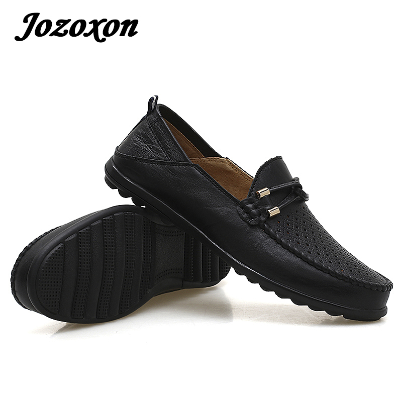 Jozoxon Big Size39-47 Slip on Casual Men Loafers Spring and Autumn Mens Moccasins Shoe Genuine Leather Men's Flats Shoes Driving mens s casual shoes genuine leather mens loafers for men comfort spring autumn 2017 new fashion man flat shoe breathable