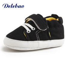 Delebao 2017 Design Spring/Autumn Baby Shoes Unique PU Non-slip Boy & Girl Thick Cotton First Walkers Wholesale