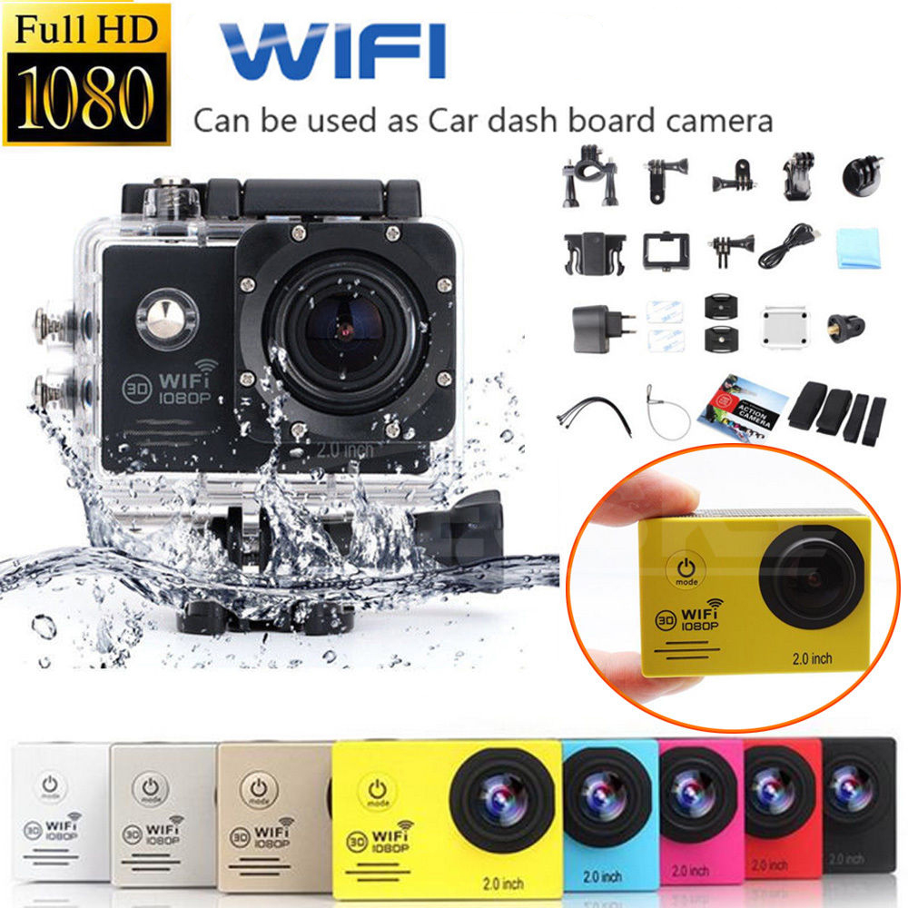 1080P Full HD Sport Action Mini Camera Camcorder Wifi Wireless Waterproof Water Resistant CamGopro go pro Xiao Mi Yi style